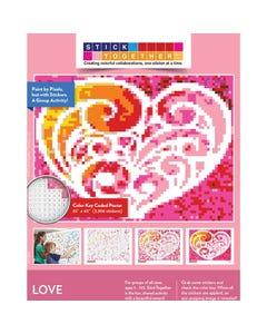 StickTogether® Valentine Heart Mosaic Sticker Puzzle Poster