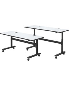 MooreCo™ Sit/Stand Dry-erase Flipper Tables - Rectangle