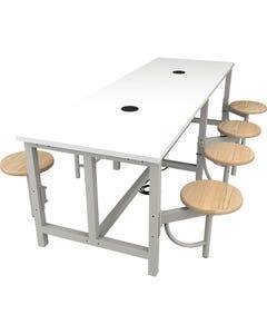 "96""W Table & 8 Seats (4 on Each Side)"