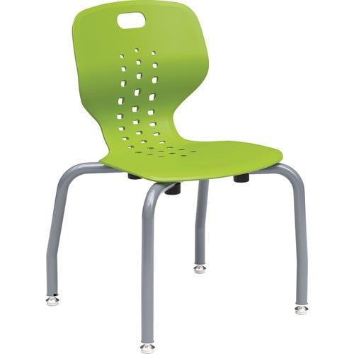 Paragon EMOJI Leg Base Stack Chair Shown in Grass Green