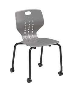 Paragon EMOJI Mobile Stack Chair Shown in Cool Gray