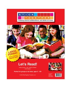 StickTogether® Let's Read Large Format Mosaic Sticker Puzzle Poster