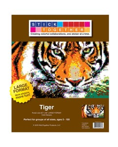 StickTogether® Tiger Large Format Mosaic Sticker Puzzle Poster