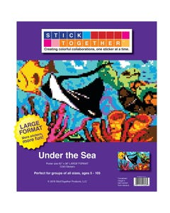StickTogether® Under the Sea Large Format Mosaic Sticker Puzzle Poster