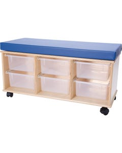 Demco® Mobile Storage Benches-6 Tray Bench