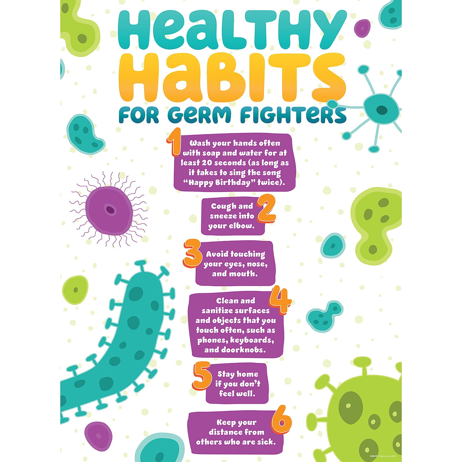 Demco® Upstart® Healthy Habits for Germ Fighters Poster
