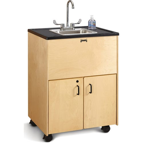 "36""H with Stainless Steel Sink"
