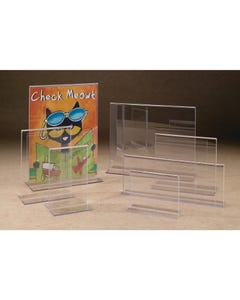 Demco® Clear Plastic Double-sided Sign Holders