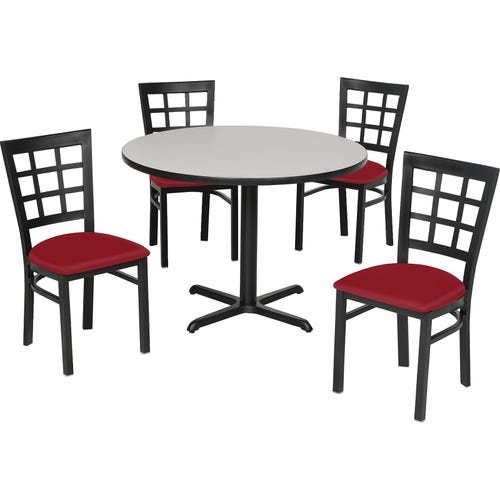 149-7822 Shown With a Gray Nebula Laminate top & 4 Nine Square Back Standard Height Chairs 136-2394 (each sold separately)