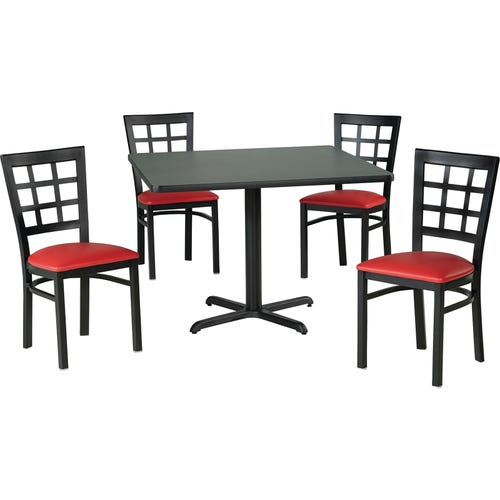 136-5981 Shown With a Graphite Nebula Laminate top & 4 Nine Square Standard Height Chairs 136-2394 (each sold separately)