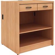 2-Drawer with Shelf