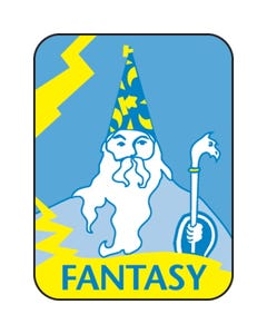 Gaylord® Paper Preprinted Classification Spine Labels - Fantasy (Wizard)Blue