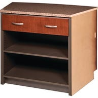 Double Drawer Unit With Shelves