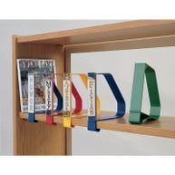 Clip-on Book Supports with Optional Label Holders and Labels sold separately