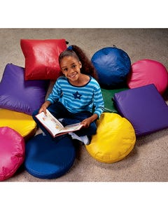 Comfortable Vinyl Story Hour Reading Cushions