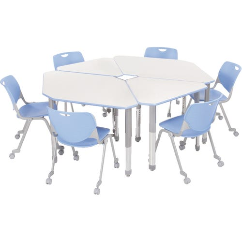 Two 2-person and Two Single Diamond Desks (Each Sold Individually)