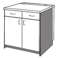 2 Drawer/Door Unit
