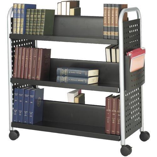 6 Sloped Shelf Booktruck