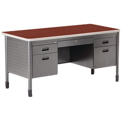 Double Pedestal Steel Desk