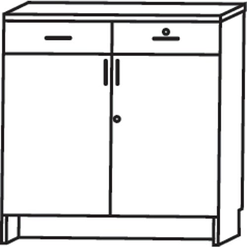 Hinged Door and Drawer Unit