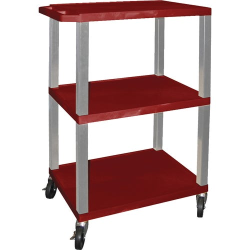 Shown With Red Shelves