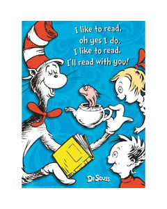 Demco® Upstart® Dr. Seuss™ Cat in the Hat I Like to Read Poster