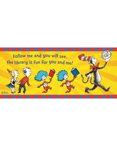 Demco® Upstart® Dr. Seuss™ The Library is Fun Cat in the Hat Banner