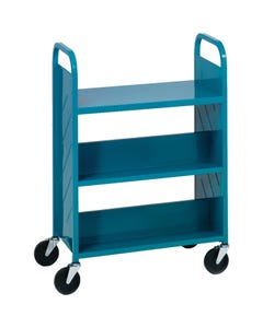 Demco® LibraryQuiet™ Booktruck, 4 Sloped and 1 Flat Top Shelves