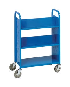 Demco® LibraryQuiet™ Booktruck,4 Sloped and 1 Flat Bottom Shelves