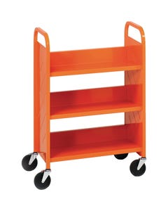 Demco® LibraryQuiet™ Booktruck, 3 Sloped Shelves