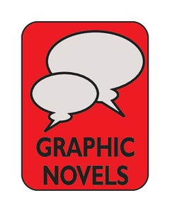 Demco® Genre Subject Classification Labels - Graphic Novels (Red)