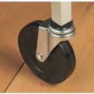 Casters for DEMCO® Hanging Bag Floor Rack