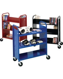 Demco® LibraryQuiet™ Atlas Booktruck, 6 Sloped Shelves