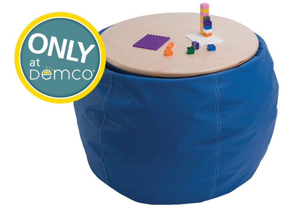 Demco Bean Bag Pouf Table