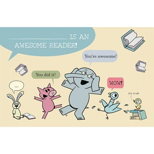 Mo Willems Reading Records & Certificates