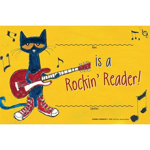 Pete the Cat® Reading Records & Certificates
