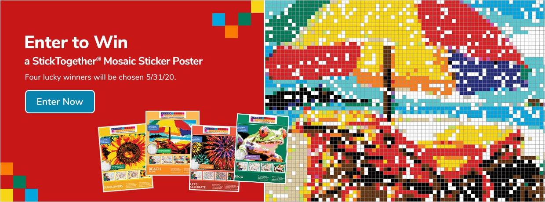 Enter to Win a StickTogether® Mosaic Sticker Poster