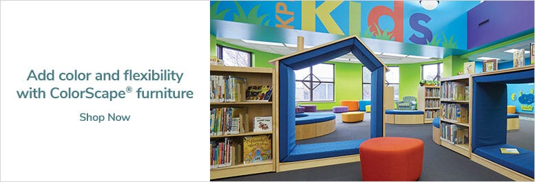 Add color and flexibility with ColorScape® furniture