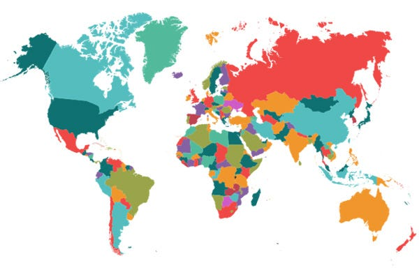 International Preferred Distributor Map